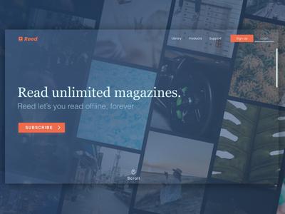 Magazine Subscription Service Website Design ux landing page dynamic dark mode minimal ui app platform subscription web design website figma design