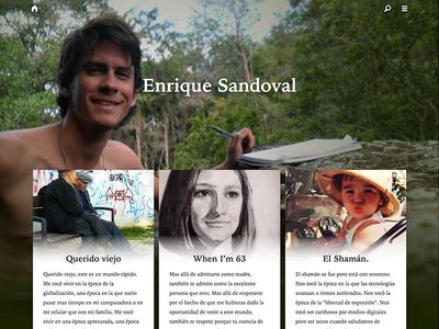 Enrique Sandoval web blog responsive medium wordpress