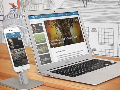 Vicious Final web blog responsive retina personal flat wordpress placeit magazine