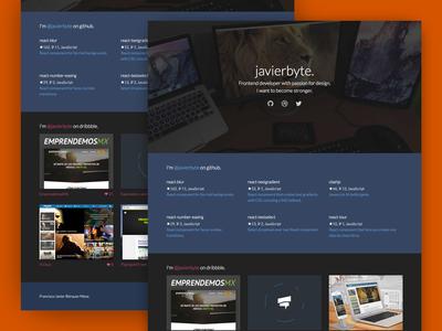 New javierbyte css gallery flat portfolio personal js web