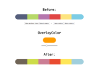 Cohesive color schemes generator