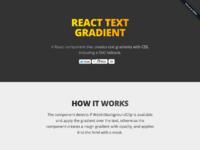 React text gradient