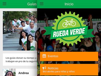 Rueda Verde bike android ios mobile ux css web design javascript js responsive ui app
