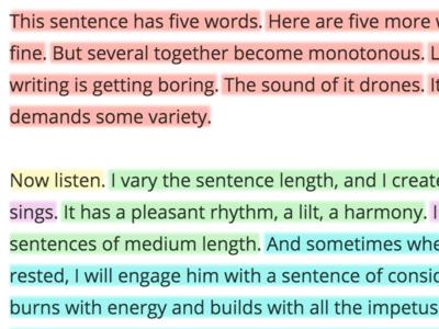 Sentence Length Art design web html5 responsive ui ux write text colors sentence tool app