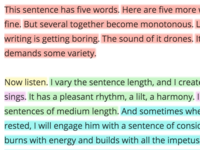 Sentence Length Art