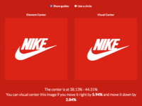 Find the visual center of your images