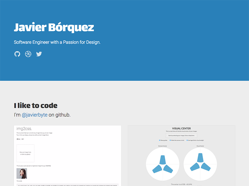 Javier bo rquez   software engineer with passion for design dribble
