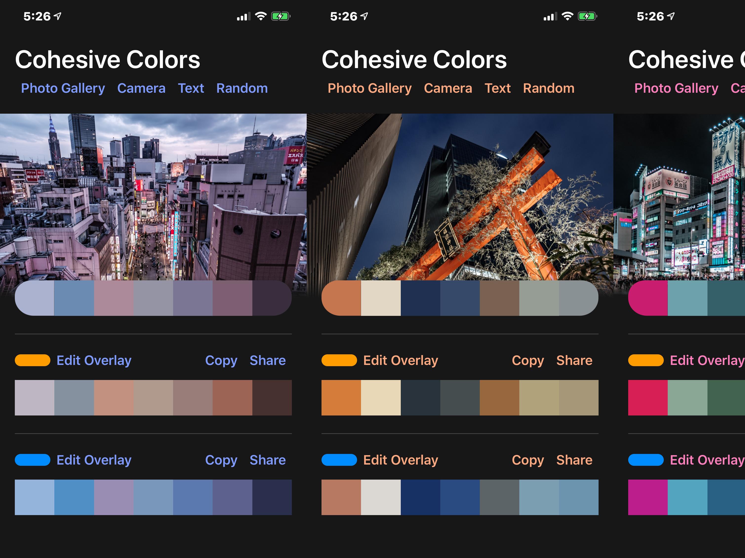 Cohesive colors