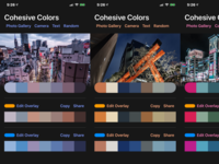 Cohesive Colors v0.2 dark mobile pallete color ios