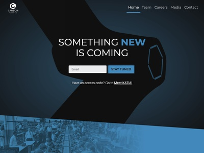 carbon.ai homepage landing startup responsive new design robotics website