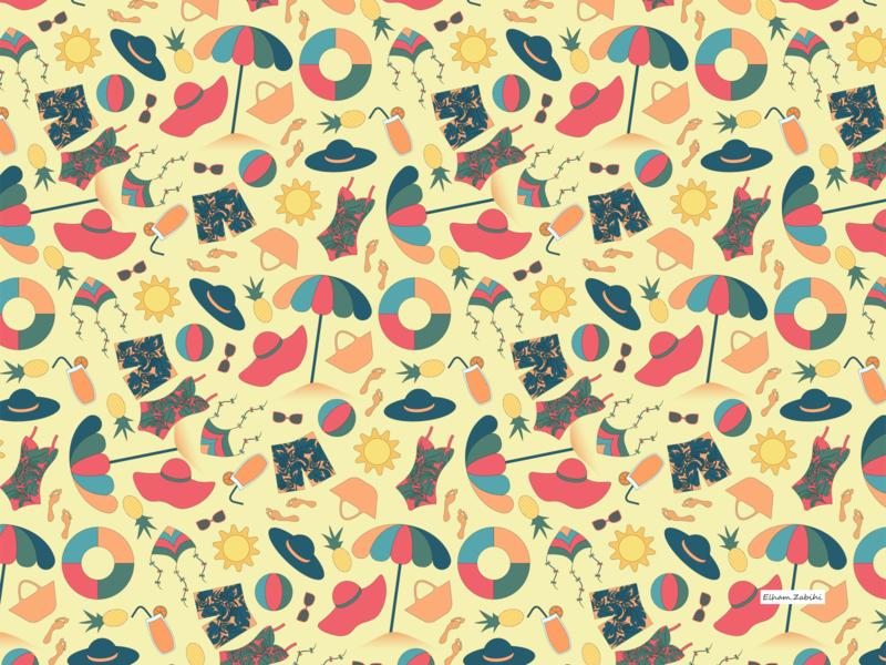 Beach & Summer patterns surface design pattern pattern design pattern art textile design textile pattern surface pattern print design pattern a day