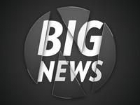 """Big News"" + News.me logo in glass"