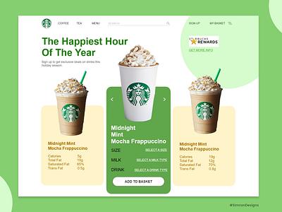 Starbucks Website Design website branding typography web ui design