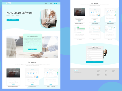 NDIS Smart Software Home page vector web ux branding website ui logo typography design
