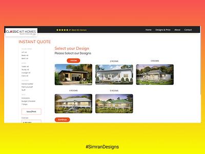 UI design of Instant Quote Page color web ux branding website ui logo typography design