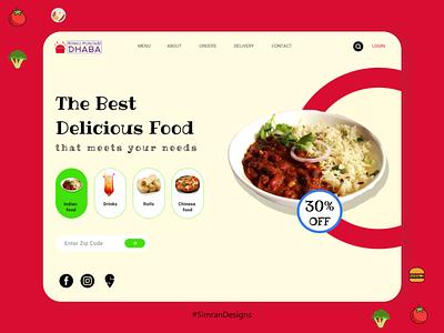 Food Website Design restaurant branding restaurant food and drink food app food mobile ui color web ux branding website ui logo typography design