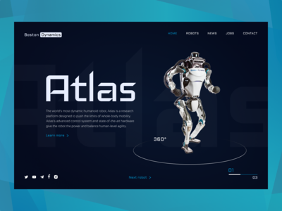 Redesign of site Boston Dynamics