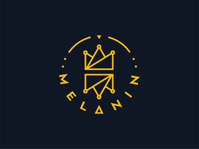 Melanin logo design and animation