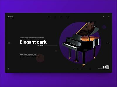 Mento website design and interaction adobe xd xd design website design dark ui dark theme webdesign ui animation web design