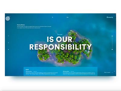 Oceaniq  Web UI web webdesign ui design animation adobe xd