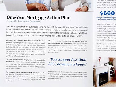 Newsletter Article Layout article mortgage editorial print newsletter