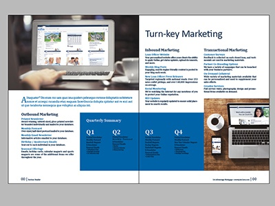 Corporate Booklet Spread  layout booklet mortgage corporate marketing