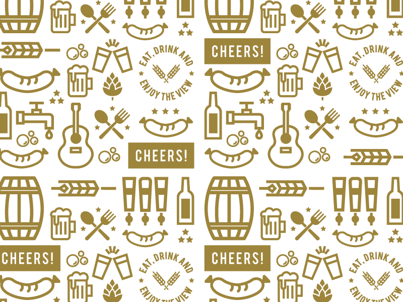 Cheers! illustration patter icon beer garden beer philly design philly identity design branding brand