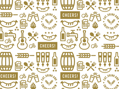 Cheers! illustration patter icon beer garden beer philly design philly identity design branding brand