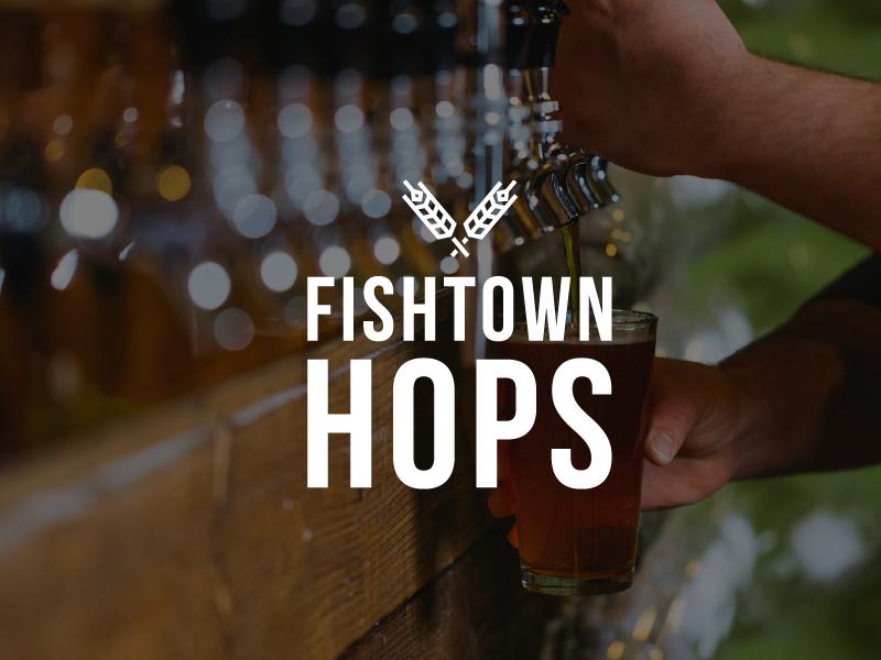 Introducing: Fishtown Hops illustration icon hops philadelphia fishtown beer branding identity logo beer garden