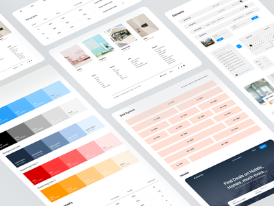 Design System based on Real estate Website branding typogaphy uiux halallab spacing grid system brandbook realestate branding concept component library components styleguide visualstyle designsystem