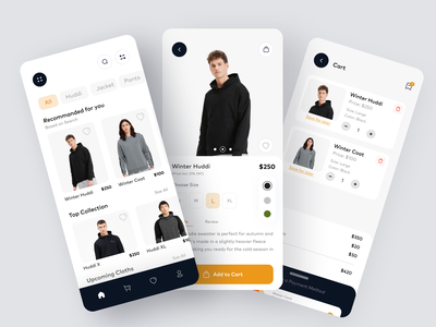 eCommerce Clothing App Design ecommerce design ux ui app design app branding estore store e-shop mobile mobile app products shopping ecommerce app halallab e-commerce shop online shopping app ecommerce business