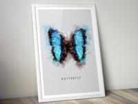 Rorschach Butterfly Poster