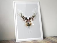 Rorschach Deer Poster