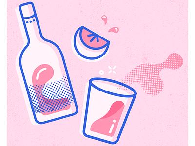 Drinks comic pink vector illustrator adobe illustrator