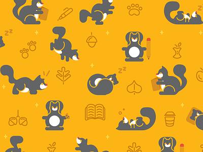 Squirrel Wallpaper school academic gold vector art vector illustrator illustration adobe illustrator wallpaper squirrel college college wallpaper