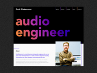 Audio Engineer Homepage