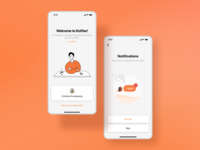 KOFFEE coffee service onboarding  design concept