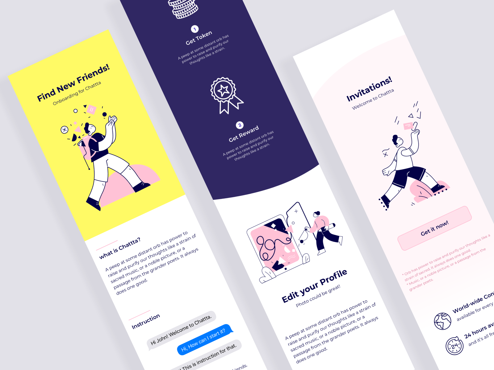 Chat App Onboarding Concept By Sarah Park On Dribbble