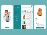 Pet Adoption App design user interface adobe illustrator adobe xd ios app design app design app ui design ui cat dogs pets animal