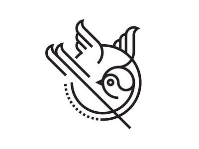 New logo? tattoo sparrow bird gravual logo new minimalistic icon simple minimal
