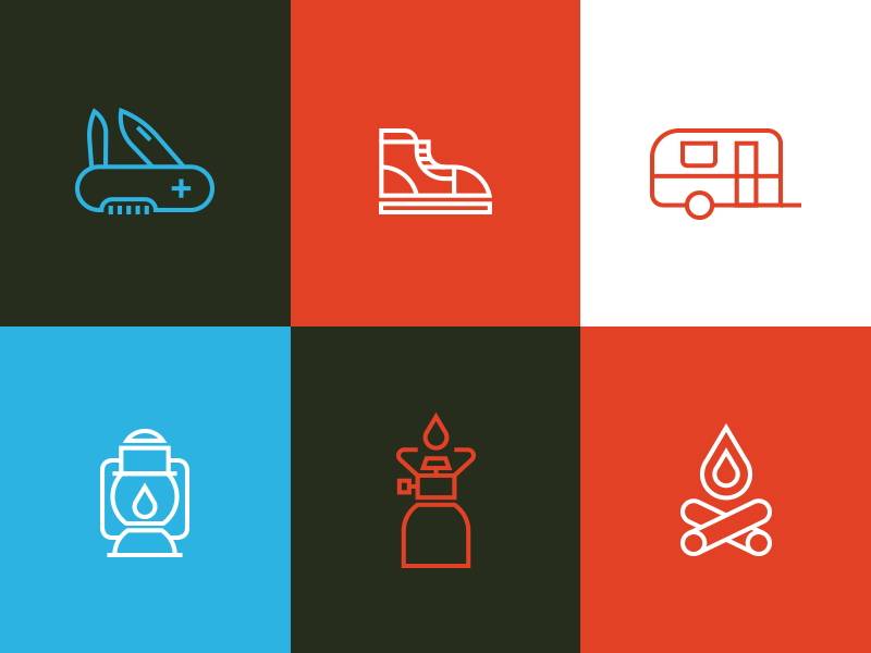 Line Icons Set 2 Proces line icons free download flat great outdoors shoe fire lamp minimal