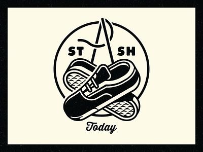 Stash Today stash today shoes lockup stamp emblem unicorn