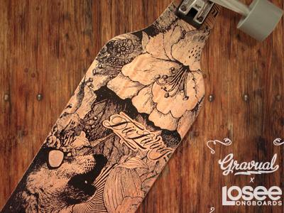 Losee Longboards longboard losee longboards illustration