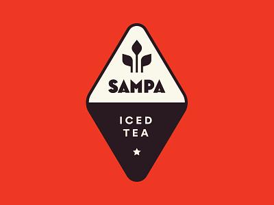 Sampa Tea Company - Logo retro mid century iced tea company tea sampa logo