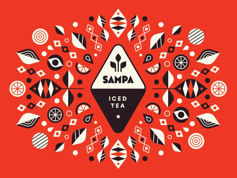 Sampa Tea Company - Graphic design century mid tea iced
