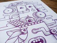 Snowmachine Print