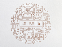 Line Icons Set 3 - Wedding Day