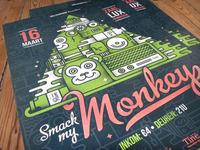 Monkey Printed