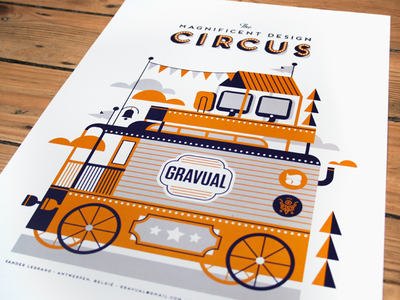 The Magnificent Design Circus self promotion gravual design circus