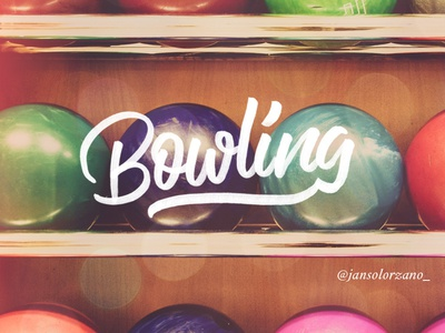 Bowling | Brush Pen Calligraphy